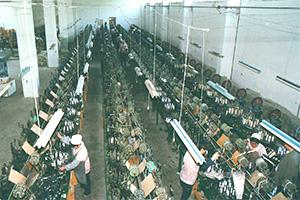 90年代公司生产拉绳的车间及设备